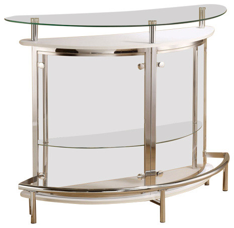 Coaster Bar Unit With Clear Acrylic Front Transitional Game Room And Bar