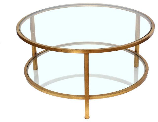 Flavia 2 Tier Glass Coffee Table