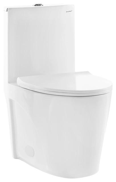 St. Tropez One-Piece Elongated Toilet, Dual Flush, 0.8/1.28 GPF