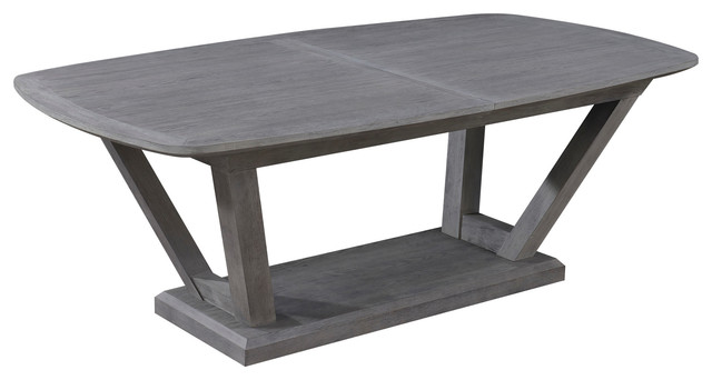 Emerald Home Carrera Extension Dining Table, Gray.