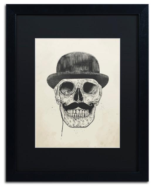 Balazs Solti &x27;gentlemen Never Die&x27; Framed Art, 16x20, Black Frame, Black Mat.