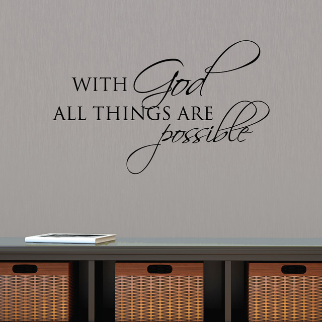 All Things Are Possible With God Religious Faith Wall Quotes Decal
