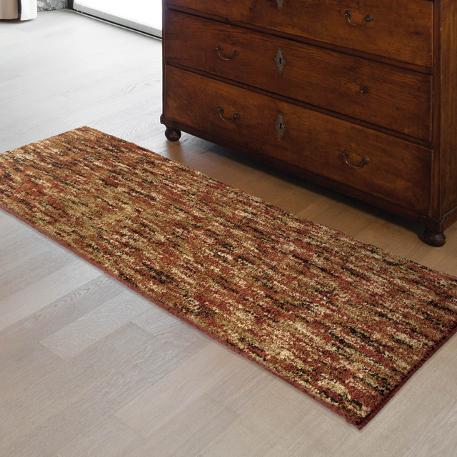 Solid Area Rug Red