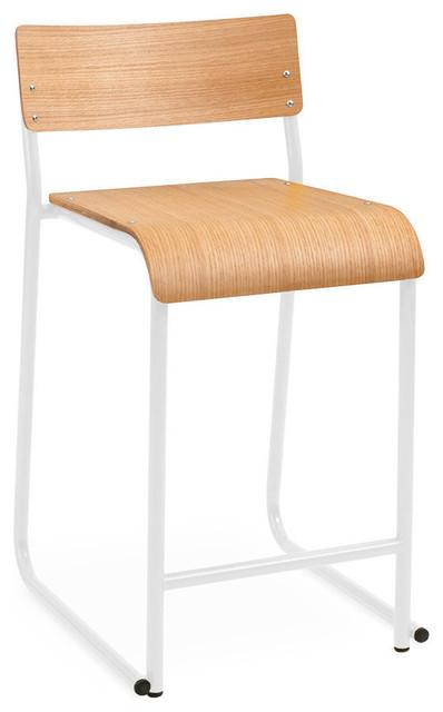 Fabulous Gus Modern Church Stool White Natural Oak Gamerscity Chair Design For Home Gamerscityorg
