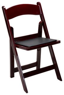 Performance Resin Folding Chair, Set of 4, Mahogany
