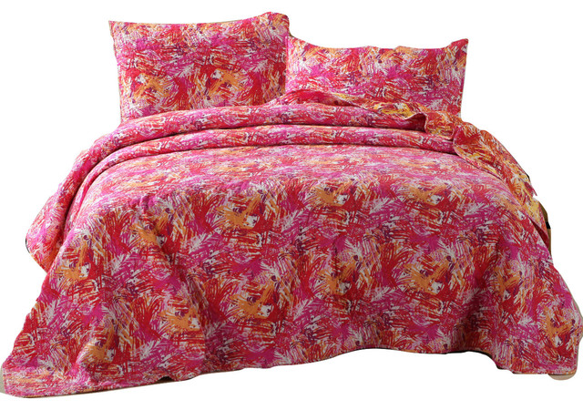 Collection Dada Bedding Hawaiian Reversible Multi Pink