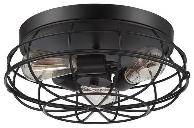 Hyder Industrial-Style Flush-Mount Light.