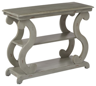 Ashland Console Table In Antique Gray Finish