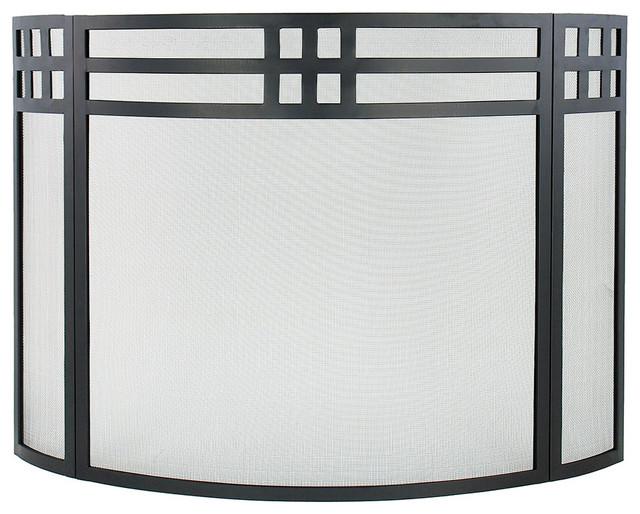Shop houzz achla designs fire screen black fireplace screens - Houzz fireplace screens ...