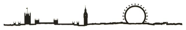 The Line, London City Skyline Silhouette, 19.5.
