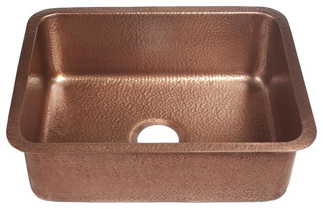 """Renoir 23"""" Copper Undermount Single-Bowl Kitchen Sink."""