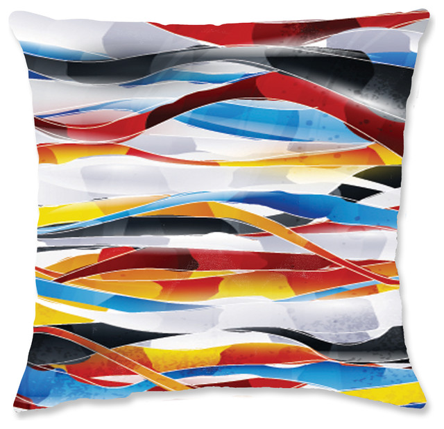 "Uncommon Graffiti Throw Pillow, 14""x14""."