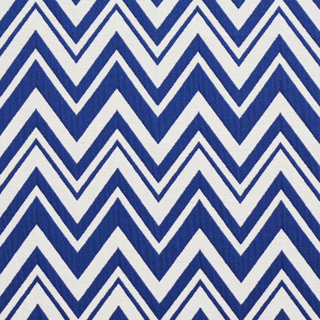 Navy And White Chevron Zig Zag Upholstery Fabric By The Yard