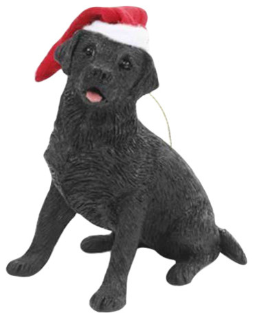 Sandicast Labrador Retriever Black With Scarf Ornament
