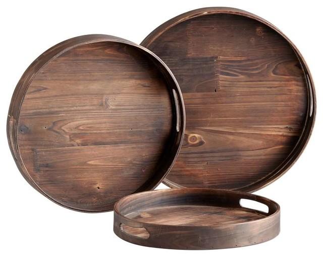 Cyan Design Dupre Trays, Walnut