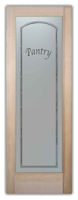 Pantry Door Classic Arch Design Frosted Glass - Craftsman ...