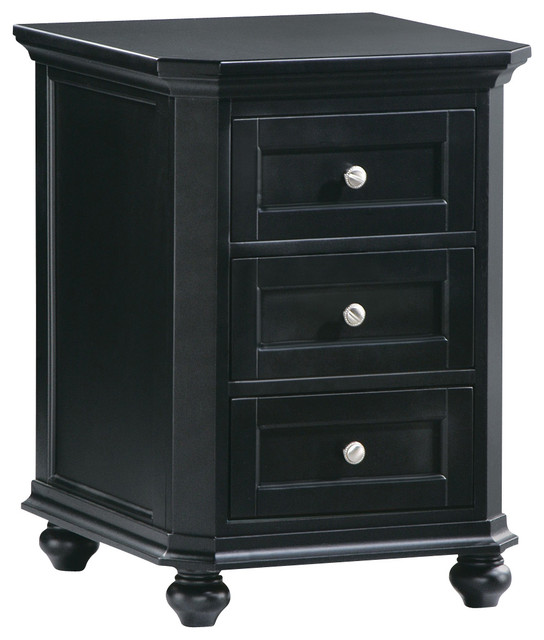 Homelegance Hanna CPU 3-Drawer Cabinet in Black - Traditional - Filing Cabinets - by Beyond Stores