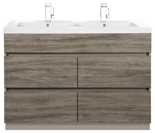 Bathroom Vanities With Drawers boardwalk double sink 4-drawer bathroom vanity - modern - bathroom