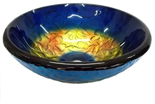 "Eden Bath 14""True Planet Glass Vessel Sink"