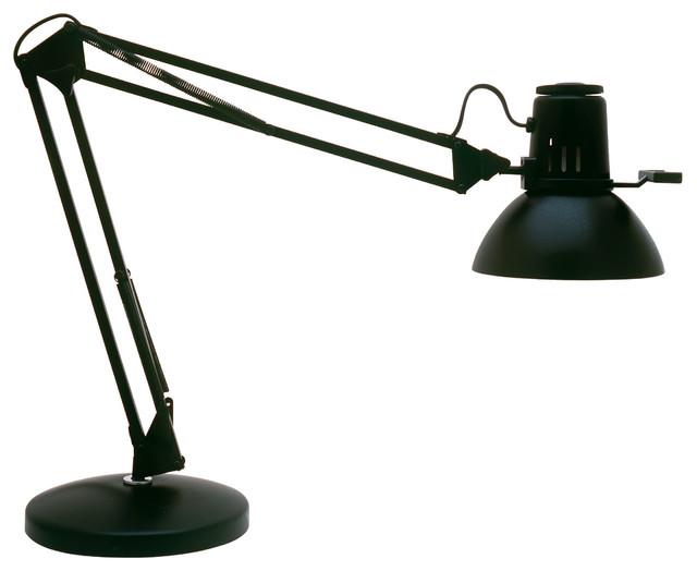 1-Light Desk Lamp, Black.