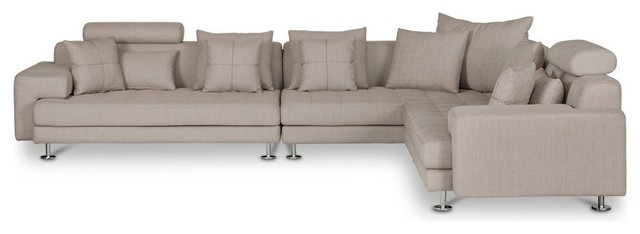 Cepella Left Seated Sectional, Light Brown Dorma-41.