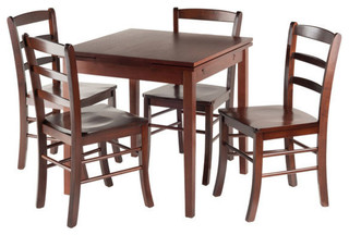 Pulman 5-Piece Set Extension Table With Ladder Back Chairs