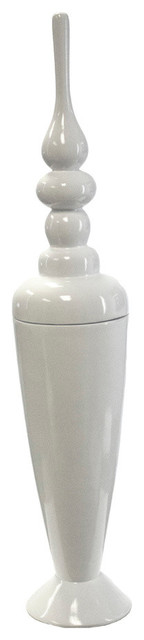 Annette Lidded Jar, Tall, White