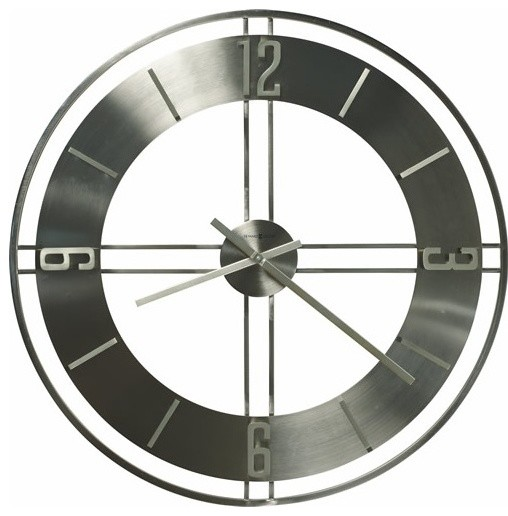 Stapleton Wall Clock in Brushed Nickel