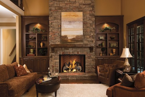 stone fireplaces with wood mantels. Love the stone fireplace and mantel  What s name of type wood where do I get