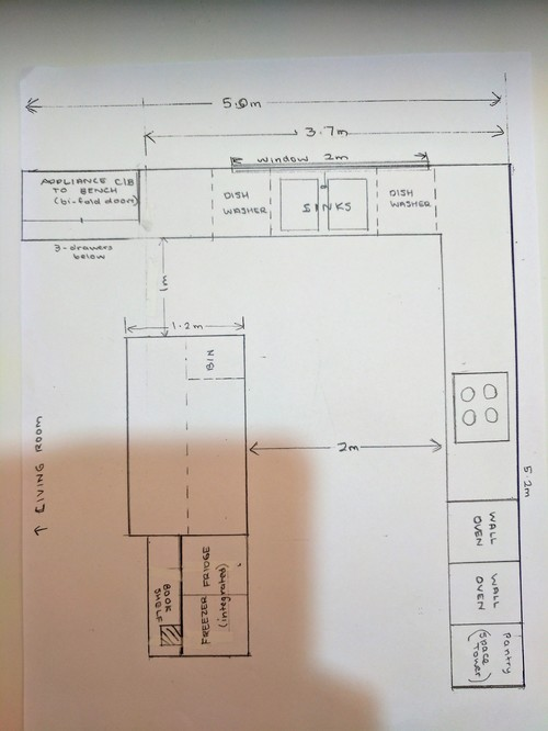 Kitchen design help what is wrong with this plan for Kitchen design help