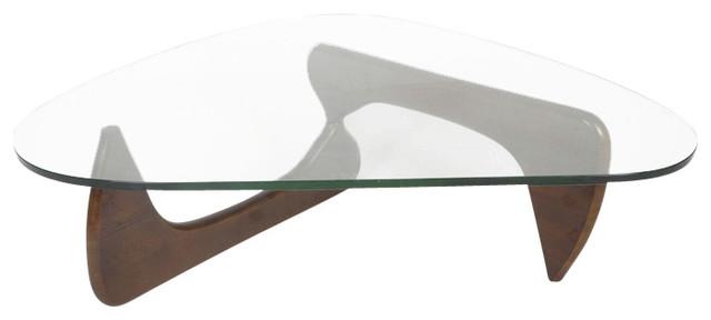 Midcentury Modern Arch Coffee Table, Black Ashwood, Ashwood/walnut Stain.