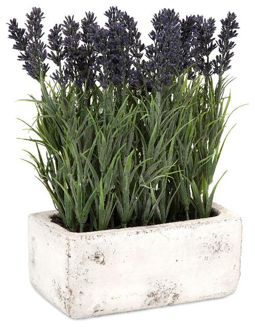 regal and classic style multi potted lavender home accent decor farmhouse artificial flower - Accent Decor