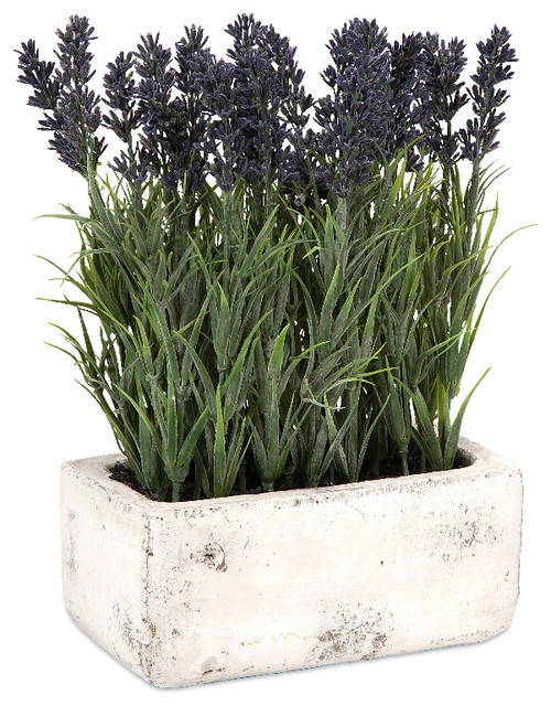 Farmhouse Artificial Plants And Trees Imax Worldwide Home Regal And Classic Style Multi Potted Lavender On