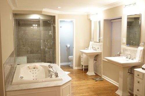 Dramatic Before And After Master Bathroom