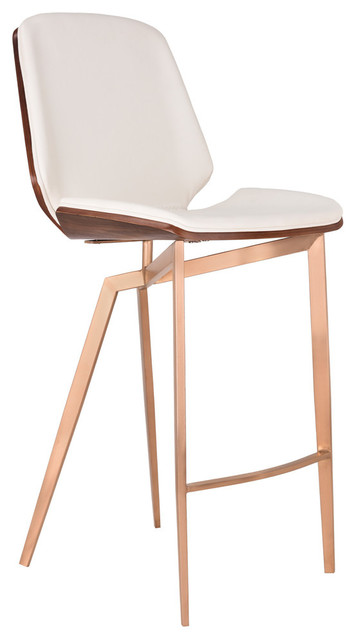 Groovy 26 Counter Height Bar Stoo Copper Brushed Stainless Steel White Faux Leather Unemploymentrelief Wooden Chair Designs For Living Room Unemploymentrelieforg