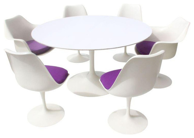 Eero Saarinen Tulip Table And Chairs Est Retail - Eero saarinen tulip table and chairs