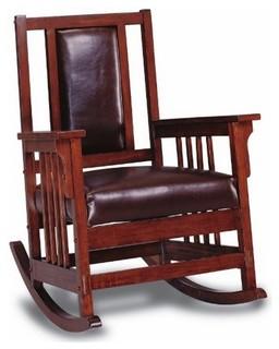 Coaster Rocking Chair, Tobacco