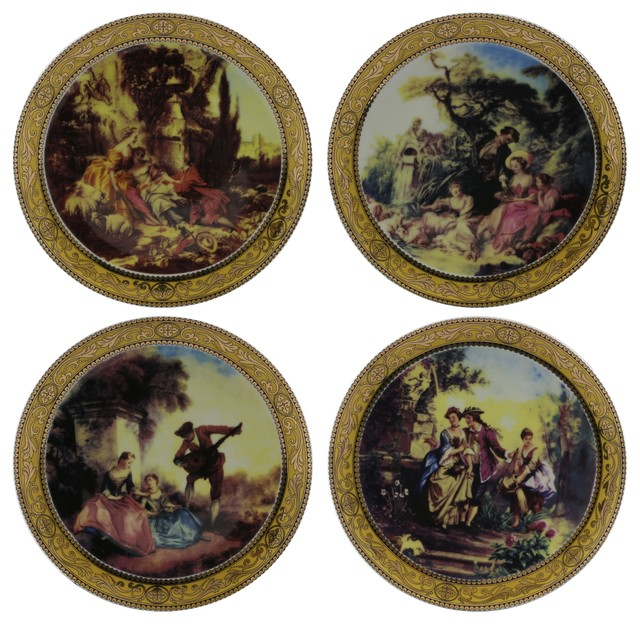 High Quality Fine Porcelain Decorative Scenery Motif Wall Plates