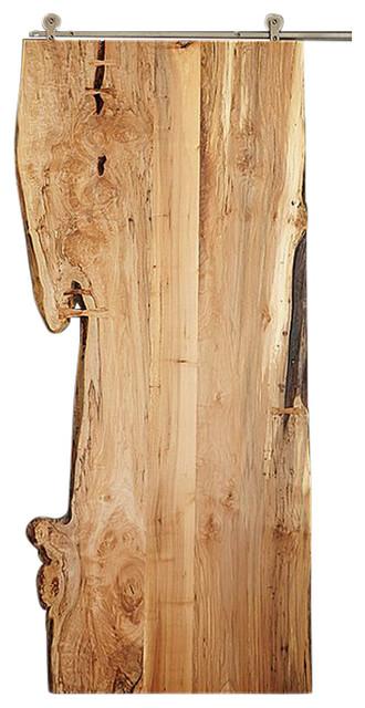 Live Edge Sliding Door Spalted Maple  sc 1 st  Houzz & Live Edge Sliding Door Spalted Maple - Industrial - Interior Doors ...