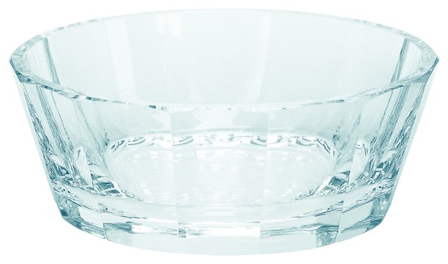 Theresienthal Roland Clear Aqua Crystal Dessert Bowl