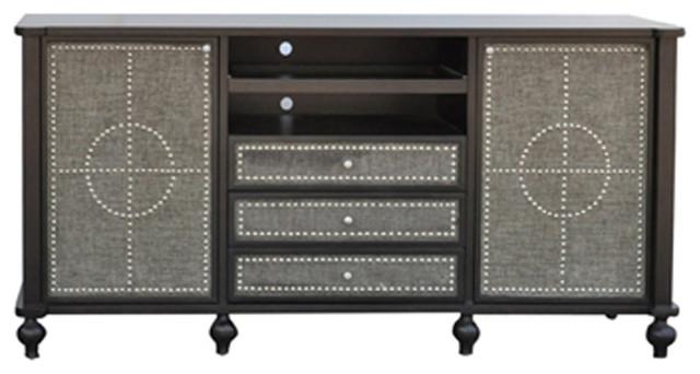 Crestview Collection CVFZR340 Harrison Tv Cabinet - Entertainment ...