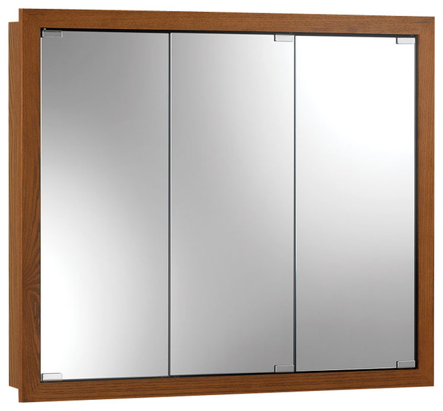 "Granville 30""x26"" Surface Mount Honey Oak Medicine Cabinet."