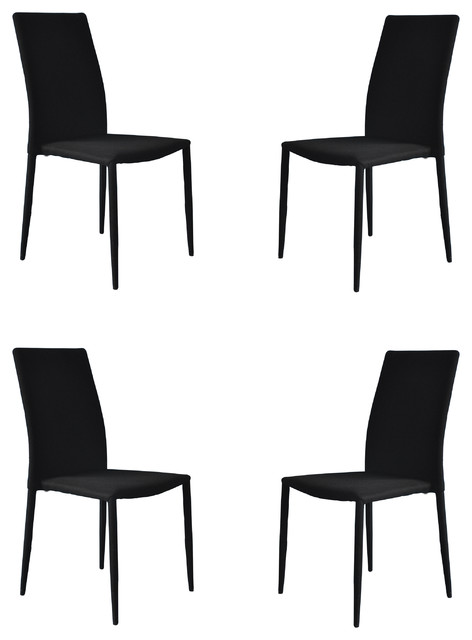 Divano Roma Furniture - Modern and Sleek Fabric Dining Room Chairs ...