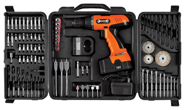89 Piece 18v Cordless Drill Set By Stalwart Traditional Power Tools By Trademark Global