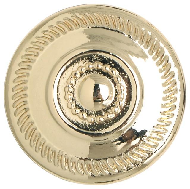"Excellent Antique Porcelain /& Brass 1 1//4/"" Diameter Drawer or Cabinet Pull"