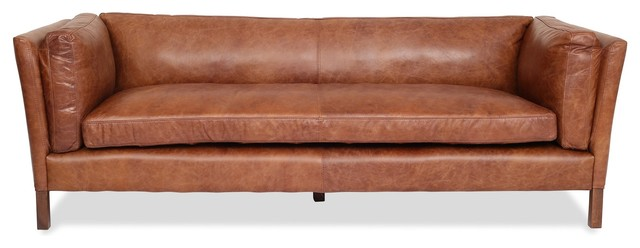 Finley Leather Sofa.