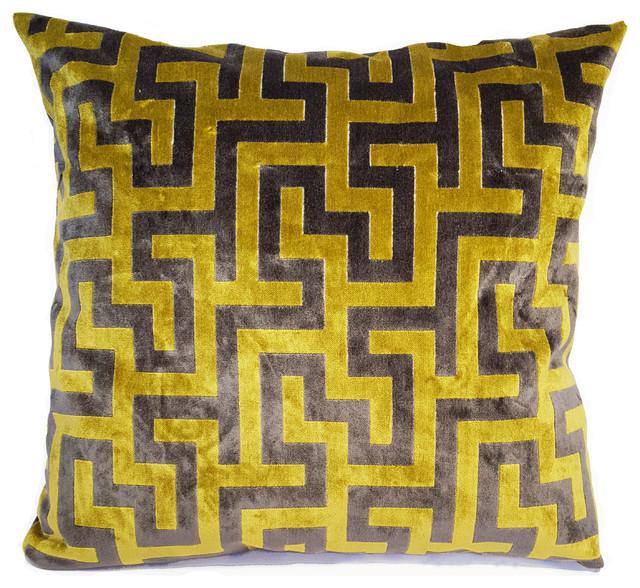 Labyrinth Citron Pillow.