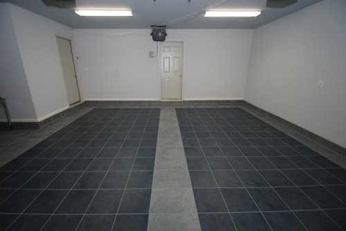 Luxury Tile Floor Installation In Garage