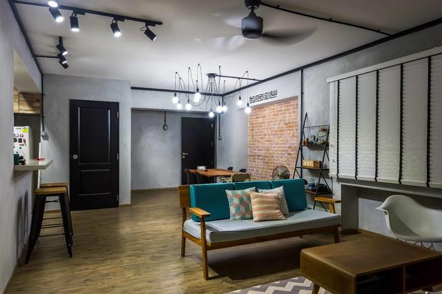 Interior Designers \u0026 Decorators. Modern Industrial Concept HDB 5room scandinavian & Modern Industrial Concept HDB 5room - Scandinavian - Singapore - by ...