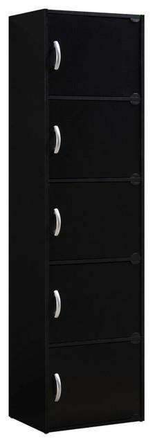 5-Door Cabinet, Black.